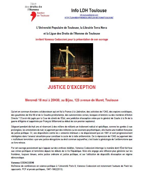 Jusrtiec d'exception - Le Bijou - 18-05-2016